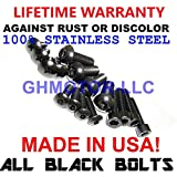 2006 2007 GSX-R GSXR 600 750 Fairings Bolts Screws Fasteners Kit Set Made in USA Black