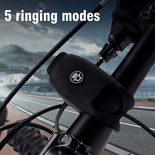Keenso Bike Bell 120dB Corno per Bicicletta elettrica Campanello per Manubrio Leggero da Esterno per MTB da Strada Mountain Bike