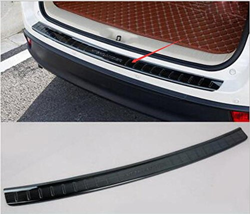Salusy Black Stainless Steel Outer Rear Bumper Protector Guard Sill Plate Trim for Toyota Highlander 2015 2016