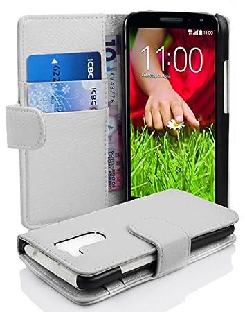 Cadorabo Carcasa para LG G2 Mini Móvil En Funda con tarjetero de struktri ertem piel sintética Case Cover Carcasa Funda Book Style Magnesio Color ...