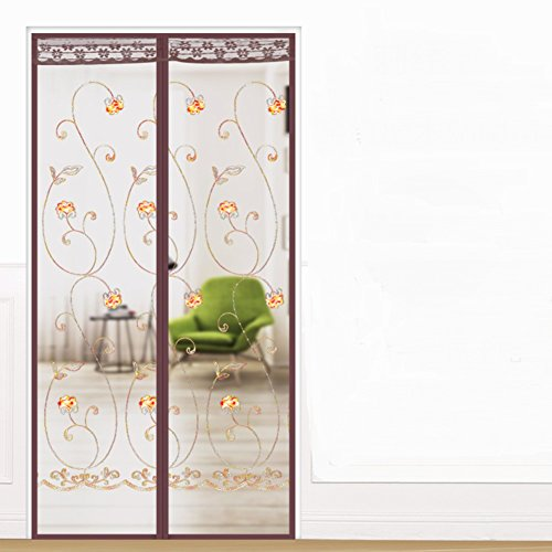 - JYXJJKK Mosquito magnetic soft yarn curtain,Encrypted partition screens-E 85x220cm(33x87inch)