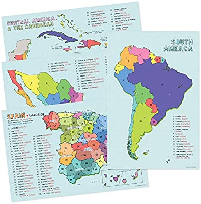 Amazon.com: Spanish Language Country Maps for The Classroom ...