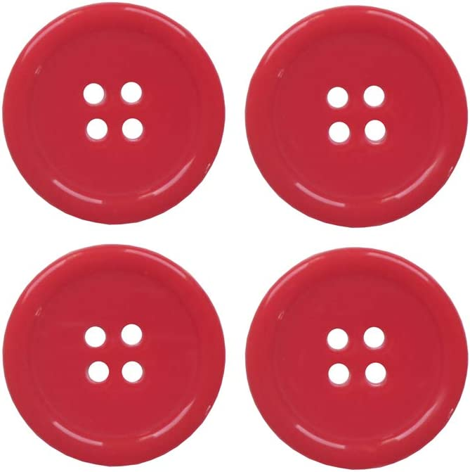 25mm YAKA 80Pcs 1inch Sewing Resin Buttons Round Shape 4 Holes Craft Buttons for Sewing Scrapbooking and DIY Craft Green