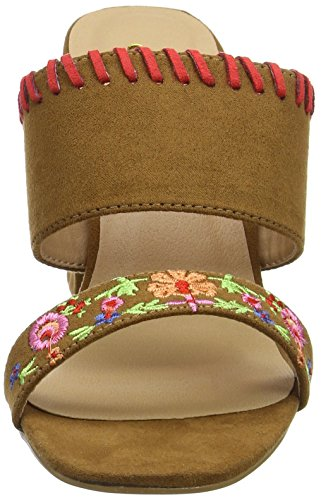 Joe Mules Embroidered Multi Ouvert Sandales Femme Tan Marron Charismatic Browns Bout A r1qwfr