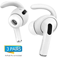 AhaStyle 3 Pairs Silicone Earbuds Covers for Apple AirPods Pro 1 Storage Hook Pouch, Anti-Lost & Anti-Slip Ear Tips for EarPods Accessories (White)