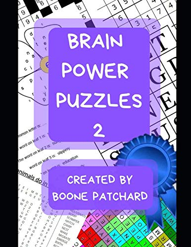 Brain Power Puzzles 2: Activity Book of Word Searches, Sudoku, Math Puzzles, Hidden Words, Anagrams, Scrambled Words, Boggle Boards, Mazes and More