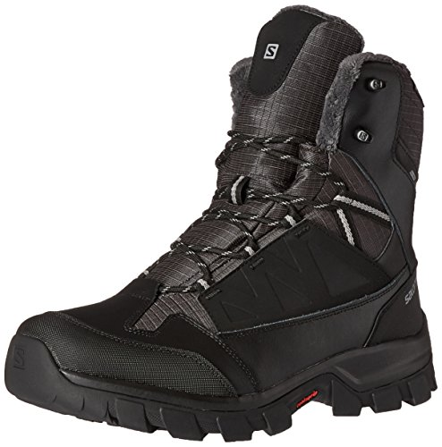 - Salomon Men's Chalten TS CSWP Snow Boot, Black/Asphalt/Pewter, 11.5 M US