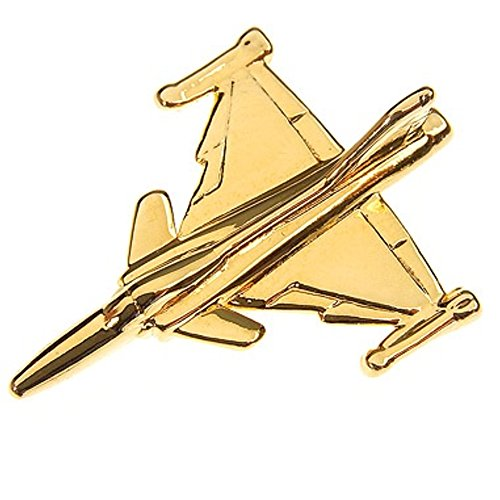 Price comparison product image Saab JAS 39 Gripen Gold Airplane Tie Pin Lapel Badge Brooch