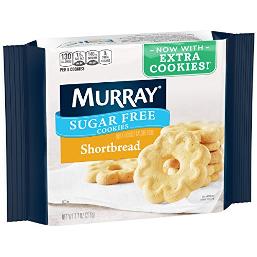 Murray Sugar Free Cookies, Shortbread, 7.7 oz Tray(Pack of 12) -
