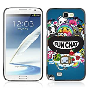Designer Depo Hard Protection Case for Samsung Galaxy Note 2 N7100 / Chat Colorful Creatures