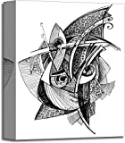 barewalls Abstract Unusual Pencil Drawing Gallery Wrapped Canvas Art (14in. x 11in.)