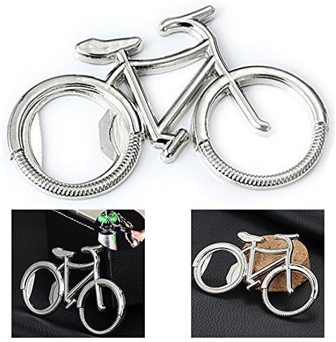 Itian Cerveza Botella Abridor, Retro bicicletas cerveza botella abridor Llavero creativos accesorios de cocina llavero abrebotellas