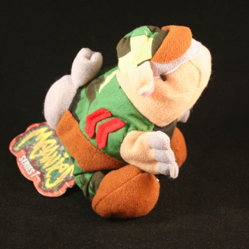 ARMYDILLO DAN * MEANIES * Series 1 Bean Bag Plush Toy From The Idea Factory