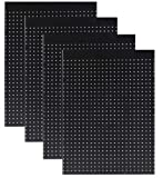 WallPeg Case of 12ea 24''x32'' Black Pegboard Panels - Tuff Polypropelene 1/4'' hole Pegboard AM 206