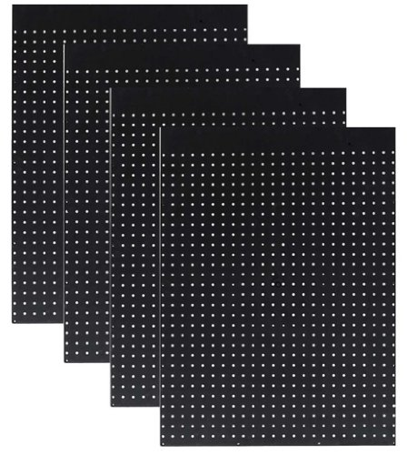 WallPeg Case of 12ea 24''x24'' Black Pegboard Panels - Tuff Polypropelene 1/4'' hole Pegboard AM 204 by WallPeg