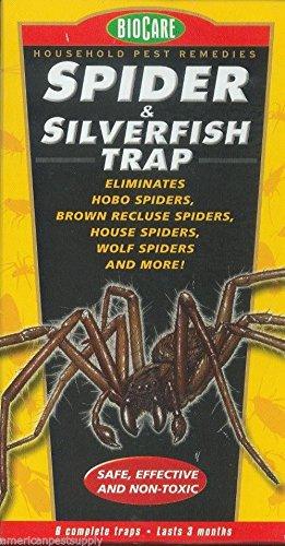 Spider Silverfish Traps 6 Pak Brown Recluse Spider Wolf Spider House Spider