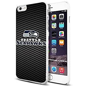 NFL Seattel Seahawks Logo , , Cool iPhone 6 Plus (6+ , 5.5 Inch) Smartphone Case Cover Collector iphone TPU Rubber Case White [By PhoneAholic]