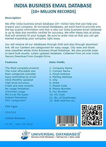 India Business Email Database [10+ Million Records]: Amazon