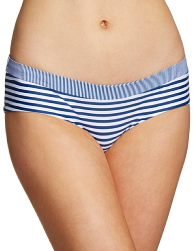 ESPRIT - Parte inferior del bikini a rayas para mujer Azul 485