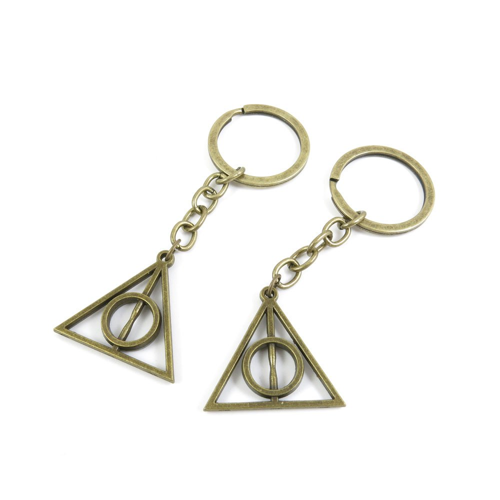1 PCS Keyrings Keychains Key Ring Chains Tags Jewelry Findings Clasps Buckles Supplies O6MT9 the Deathly Hallows elecmall