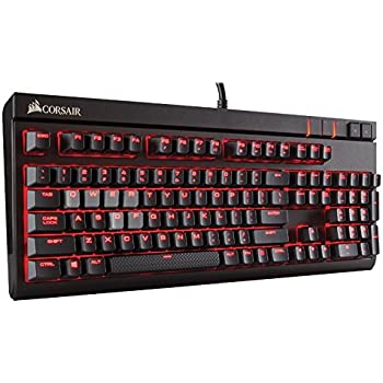 Corsair Gaming STRAFE MX Silent Mechanical Keyboard, Backlit Red LED, Cherry MX Silent