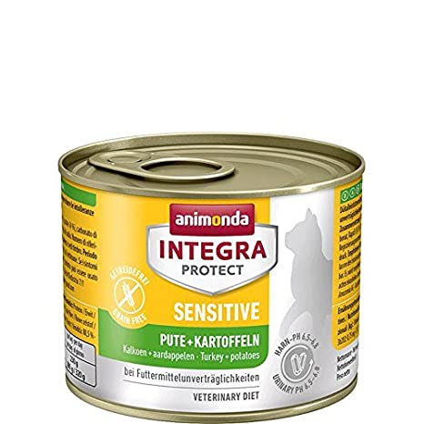 Animonda Integra Protect Sensitive , Comida húmeda para dieta de gatos con alergias alimentarias, 200 g, pack de 6: Amazon.es: Productos para mascotas