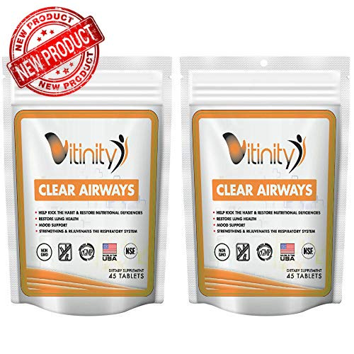 Lung Cleanse for Smokers - Clear Your Airways Lung Support Supplement - Helps Stop Smoking - Natural Lung Health Complex - Lung Detox - for Smokers, Asthma, Seasonal Allergy Relief - (30 Day Supply)