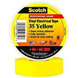 BOX USA BT96403510PKY Yellow 3M 35 Electrical Tape, 7 mil, 3/4'' x 66' (Pack of 10)