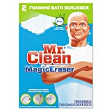 Mr. Clean Magic Eraser Bathroom Scrubber, 4 1/2'' x 3 1/5'', 2/Box (16 Boxes/Carton) - BMC-PGC 84552CT