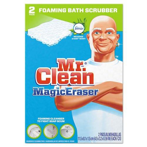Mr. Clean Magic Eraser Bathroom Scrubber, 4 1/2'' x 3 1/5'', 2/Box (16 Boxes/Carton) - BMC-PGC 84552CT by Miller Supply Inc