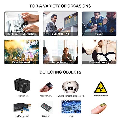 Hidden Camera Detector, RF Detector & Camera Finder, Bug Detector, Counter Surveillance ,Anti Spy Camera Detectors with Compass,Locates Hidden Device in Office,Hotel Rooms,Airbnb Excursions,Bathrooms