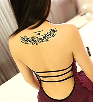 LZC Nuevo 15x21cm Tatuaje Temporal Adulto para Impermeable ...