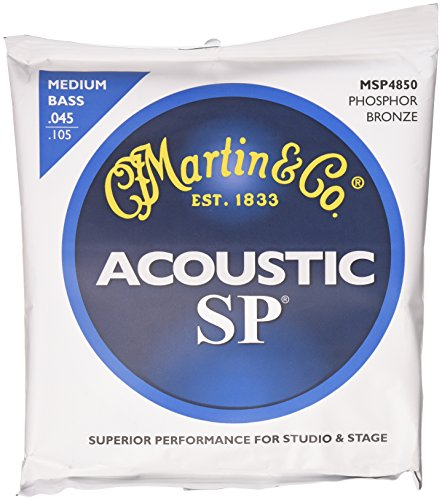 Martin MSP4850 SP Phosphor Bronze Acoustic Bass Strings, Medium (Martin Acoustic Bass)