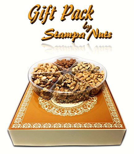 Gourmet Nuts Gift – Free Delivery – Holiday Fruit Nut Gift Box, Nuts Gift Basket – Birthday Gift, Get Well Soon, Fathers Day, Holiday Present. Stampa Nuts special – Nuts weight 1lb 6oz by Stampa Nuts