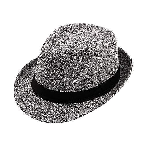 (Hat for Women for Church,Vintage Men Winter Pork Pie Hat with Grosgrain Band Jazz Hat Warm Cap,Dog Costumes,Dark Gray,One Size)