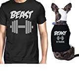 Beast In Training Small Dog Owner Matching Apparel Gift Dog Mom Gifts (ONWER – 3XL / PET – S) For Sale