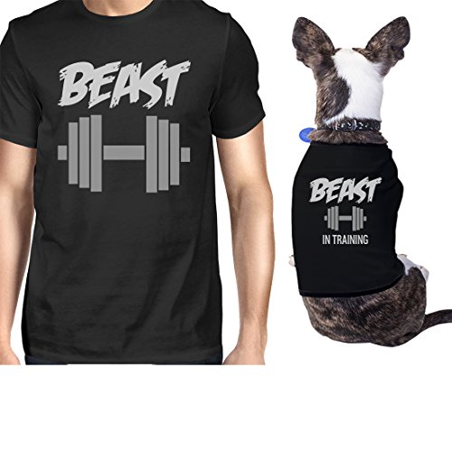 (Beast In Training Small Dog Owner Matching Apparel Gift Dog Mom Gifts (ONWER - M / PET -)