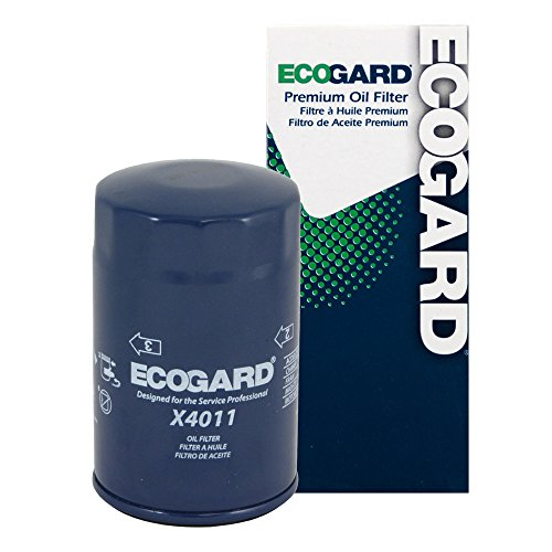 (ECOGARD X4011 Spin-On Engine Oil Filter for Conventional Oil - Premium Replacement Fits Chevrolet K1500, Blazer, S10, C1500, Tahoe, Astro, K2500, K1500 Suburban, Silverado 1500, S10 Blazer, Corvette)