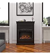 Ameriwood Home Lamont Electric, Black Fireplace