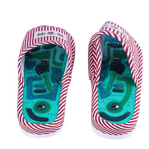Affeco Foot magnétique Pieds d'acupuncture Massage Chaussures Care Chaussons masseur Femme wgZqFwO