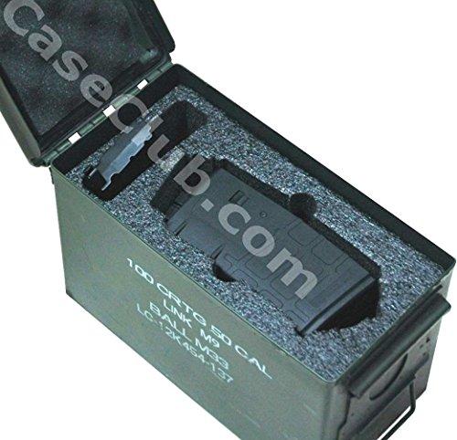 Case Club Rifle Magazine Holder 50 Cal Ammo Can Foam (Pre-cut, Closed Cell, Military Grade Foam)