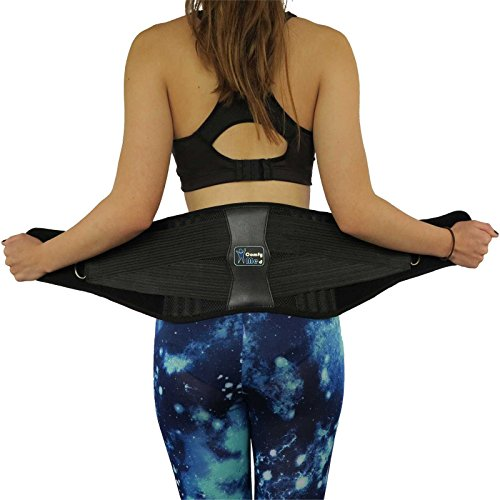 ComfyMed® Premium Quality Back Brace CM-102M with Removable Lumbar Pad for Lower Back Pain Relief – Support Belt for Sciatica, Scoliosis or Herniated Disc – DiZiSports Store
