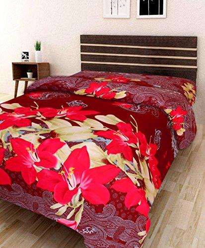 IWS 3D Printed 160 TC Polycotton Single Bedsheet – Floral