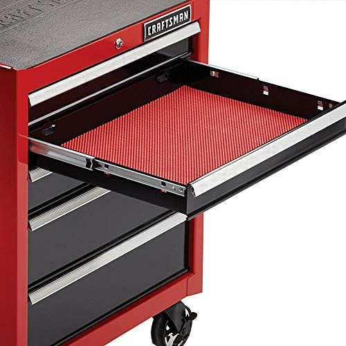 (Drawer Liner Roll Non Slip Open Weave for Craftsman Rolling Tool Chest Box Red)