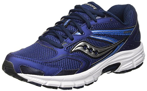 Nine Grid (Saucony Men's Grid Cohesion 9 Running Shoe,Navy/Grey,11.5 M)