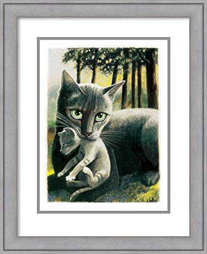 Framed Wall Art Print Brandy New Day Cat by Laura Seeley 22.38 x 27.38