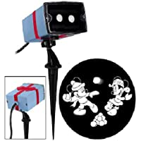 Gemmy Disney Christmas Mickey & Minnie LED Projection Spotlight - White