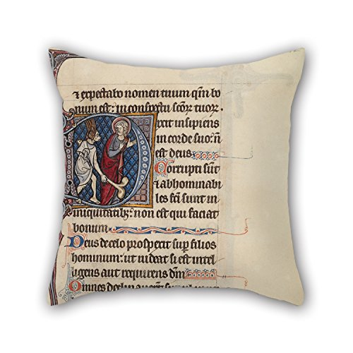 [Loveloveu Pillow Covers Of Oil Painting Bute Master (Franco-Flemish, Active About 1260 - 1290) - Bute Psalter 16 X 16 Inches / 40 By 40 Cm,best Fit For Family,wedding,bar,family,home] (Light Me Up Ladybug Dress Costumes)