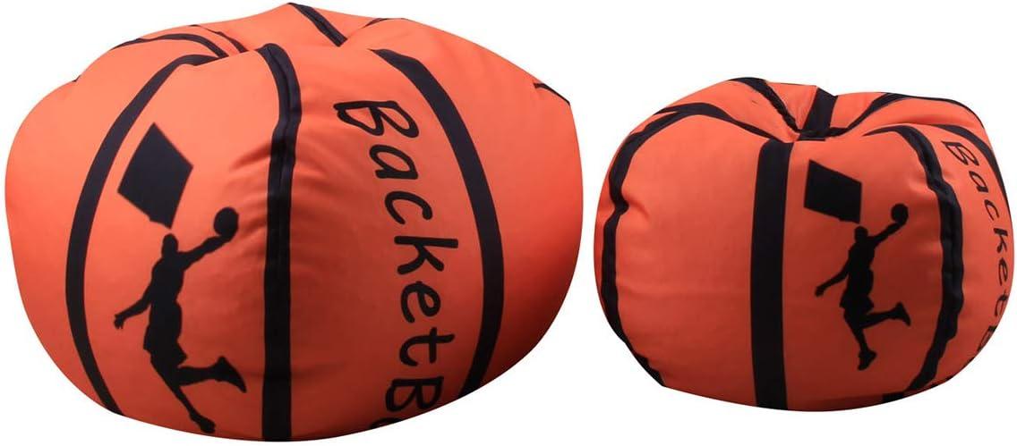 Organizer trapunte Basketball THEE Vestiti 18//Small Poltrona a Sacco in Tela per Bambini Giocattoli