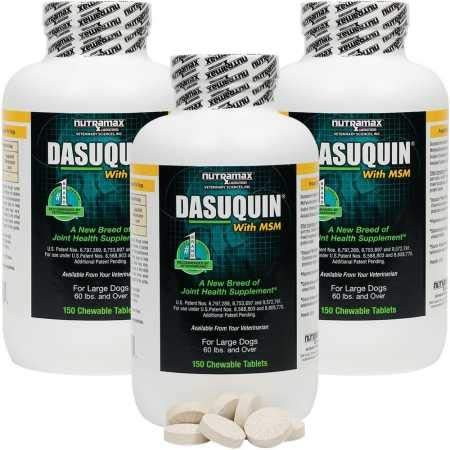 Dasuquin 3PACK for Large Dogs 60 lbs. Over with MSM (450 Chewable Tabs)